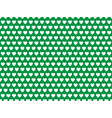 white hearts on green background pattern vector image vector image