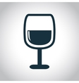 Wine glass black icon vector image