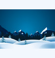 winter lanscape vector image vector image