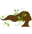 woman head profile vector image vector image