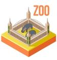 Zoo hippos isometric icon vector image vector image