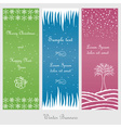 Set of winter and christmas banners vector image