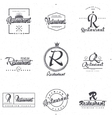 Badges and labels elements for restaurant your vector image