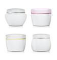 cream container set plastic jar for vector image