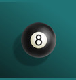 billiards eight ball realistic vector image