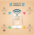3d infographic design template and marketing icons vector image vector image