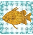 A colorful of exotic pine cone fish vector image