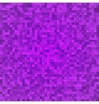 Abstract violet pixel mosaic seamless background vector image