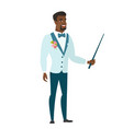 african-american groom holding pointer stick vector image vector image