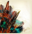 background with colorful feathers vector image vector image