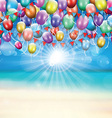 balloons background 1607 vector image vector image