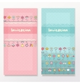 bashower cards with funny flowers vector image