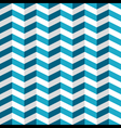 Blue and white chevron seamless pattern vector image