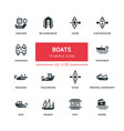 boats - flat design style icons set vector image vector image