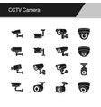 Cctv camera icons design for presentation graphic
