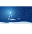 christmas blue background blizzard stars and snow vector image vector image