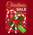 christmas sale discounts and offers from shops vector image vector image