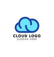 cloud logo design template icon vector image vector image