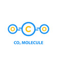 co2 molecule vector image