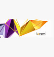 colorful geometric triangle background vector image vector image