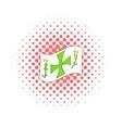 Columbus day symbol icon comics style vector image vector image