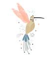 creative hummingbird princess cartoon in modern vector image