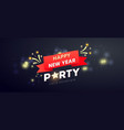 creative merry christmas party background vector image