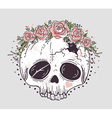 Cute tattoo style skull vector image vector image
