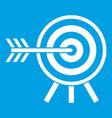 darts icon white vector image vector image