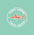deep sea fish logo icon design vector image