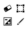 digital design tools simple related icons vector image