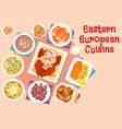 eastern european cuisine festive dishes icon vector image vector image