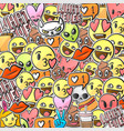 emoji smiley faces background emoticon stickers vector image vector image