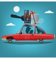 family going to vacation car travel concept vector image vector image