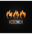 fire poly design background vector image