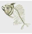 Fish skeleton icon for other design needs vector image vector image