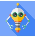 flat color robot toy vector image