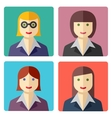 Flat colorful businesswoman avatar icons vector image vector image