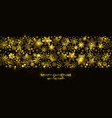 gold and black seamless snowflake border xmas vector image