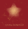 gold star on a festive red star burst background vector image