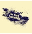 Grunge tire track background vector image vector image