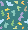 hands gesture like different animals seamless vector image vector image