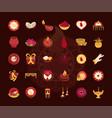 happy bhai dooj indian family celebration icons vector image vector image