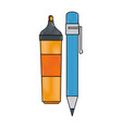 highlighter pen icon vector image vector image