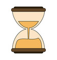 hourglass antique clock vector image vector image