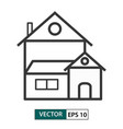 house home icon outline style eps 10 vector image
