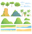 landscape constructor creation kit with trees vector image vector image