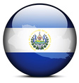 Map on flag button of Republic of El Salvador vector image vector image