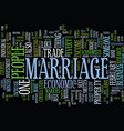 marriage an economic perspective text background vector image vector image