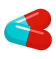 medical pills icon flat style vector image